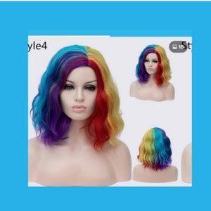 Accessories - Dark colored rainbow wig bob